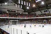 - The Northeastern University Huskies defeated the Bentley University Falcons 3-2 on Friday, October 16, 2009, at Matthews Arena in Boston, Massachusetts..