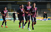 Luciano Narsingh, Mike van der Hoorn and Kyle Naughton of Swansea City prior the Pre-Season Friendly between Yeovil and Swansea City at Huish Park, Yeovil, England, UK. Tuesday 10 July 2018
