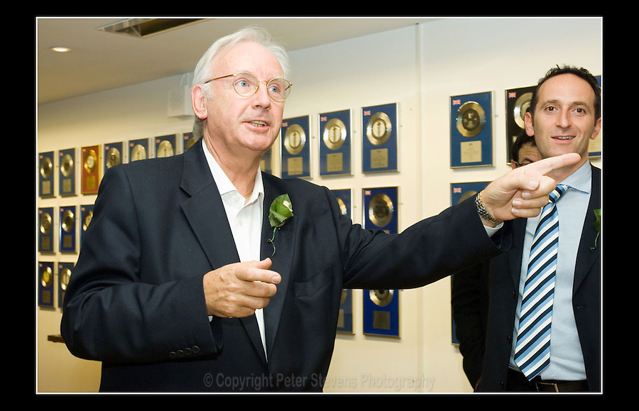 Pete Waterman OBE - County Hall Quarter - 28th September 2006 -<br /> <br /> Waterman reveals his ambition to turn parts of County Hall unused since the GLC was abolished in 1986 into a media and entertainment village.
