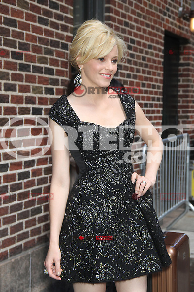 May 10, 2012: Elizabeth Banks at Late Show with David Letterman  in New York City to talk about her new movie What to Expect When You.re Expecting. Credit: RW/MediaPunch Inc.