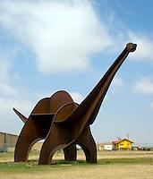 Metal Dinosaur in Boise City, Oklahoma.