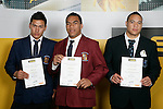 Boys Rugby League finalists Elijah Taylor, Daniel Palavi & Siua Tonga Likiliki. ASB College Sport Young Sportperson of the Year Awards 2007 held at Eden Park on November 15th, 2007.
