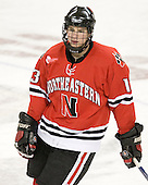 Randy Guzior (Northeastern - 13) - The Boston College Eagles defeated the visiting Northeastern University Huskies 7-1 on Friday, March 9, 2007, to win their Hockey East quarterfinals matchup in two games at Conte Forum in Chestnut Hill, Massachusetts.