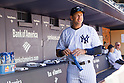 Alex Rodriguez (Yankees),<br /> APRIL 29, 2015 - MLB : Alex Rodriguez of the New York Yankees stands in the dugout during the Major League Baseball game at Yankee Stadium in Bronx, New York, USA.<br /> (Photo by Thomas Anderson/AFLO) (JAPANESE NEWSPAPER OUT)