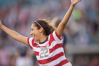 February 9, 2013:  USA Women's National Team forward Christen Press (22) celebrates after she scored a goal in the first half during action between the USA Women's National Team and Scotland at EverBank Field in Jacksonville, Florida.  USA defeated Scotland 4-1............