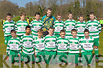 The Killarney Celtic team that defeated Aisling-Annacotty in the u13 National Cup in Killarney on Saturday front row l-r: Chris White, Jeuil Hokue, Conor Randle, Matthew Keane, Paudie Clifford, Dan O'Donoghue, Chris Doncel. Back row: Michea?l Byrnes, Shane Cronin, Liam Kearney, Shane Ryan, John Fenton-Daly, Darren O'Doherty, Donal Lyne and Brendan Lyne...