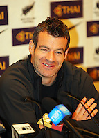 All Whites coach captain Ryan Nelsen at the World Cup Football play-off press conference during the All Whites v Bahrain build-up at Wellington Town Hall , Wellington, New Zealand on Tuesday, 10 November 2009. Photo: Dave Lintott / lintottphoto.co.nz