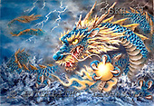 Kayomi, REALISTIC ANIMALS, paintings, dragon, BlueDragon_M, USKH13,#A# realistische Tiere, realista, illustrations, pinturas