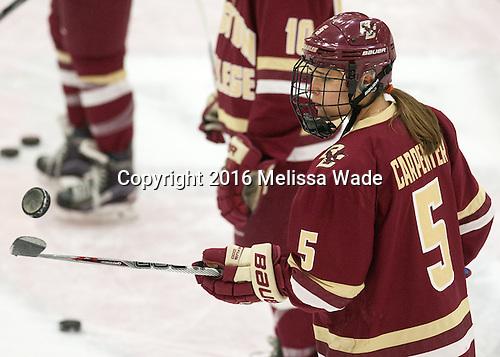 Alex Carpenter (BC - 5) - The visiting Boston College Eagles defeated the Harvard University Crimson 2-0 on Tuesday, January 19, 2016, at Bright-Landry Hockey Center in Boston, Massachusetts.