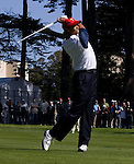 Tiger Woods at the 2009 President's Cup held Harding Park Golf Course in San Francisco, CA.  I was shooting for the San Francisco Examiner's website.
