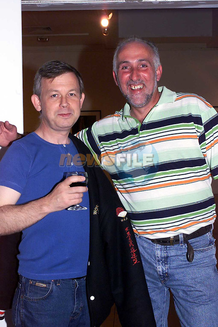 Tom Hodgins and Kevin O'Neill in the Arts Centre.Picture Fran Caffrey Newsfile