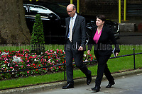 Ruth Elizabeth Davidson MSP (Scottish politician, leader of the Scottish Conservatives and Member of the Scottish Parliament for Edinburgh Central).<br /> <br /> London, 12/06/2017. Today, Theresa May's reshuffled Cabinet met at 10 Downing Street after the General Election of the 8 June 2017. Philip Hammond MP - not present in the photos - was confirmed as Chancellor of the Exchequer. <br /> After 5 years of the Coalition Government (Conservatives &amp; Liberal Democrats) led by the Conservative Party leader David Cameron, and one year of David Cameron's Government (Who resigned after the Brexit victory at the EU Referendum held in 2016), British people voted in the following way: the Conservative Party gained 318 seats (42.4% - 13,667,213 votes &ndash; 12 seats less than 2015), Labour Party 262 seats (40,0% - 12,874,985 votes &ndash; 30 seats more then 2015); Scottish National Party, SNP 35 seats (3,0% - 977,569 votes &ndash; 21 seats less than 2015); Liberal Democrats 12 seats (7,4% - 2,371,772 votes &ndash; 4 seats more than 2015); Democratic Unionist Party 10 seats (0,9% - 292,316 votes &ndash; 2 seats more than 2015); Sinn Fein 7 seats (0,8% - 238,915 votes &ndash; 3 seats more than 2015); Plaid Cymru 4 seats (0,5% - 164,466 votes &ndash; 1 seat more than 2015); Green Party 1 seat (1,6% - 525,371votes &ndash; Same seat of 2015); UKIP 0 seat (1.8% - 593,852 votes); others 1 seat. <br /> The definitive turn out of the election was 68.7%, 2% higher than the 2015.<br /> <br /> For more info about the election result click here: http://bbc.in/2qVyNRd &amp; http://bit.ly/2s9ob51<br /> <br /> For more info about the Cabinet Ministers click here: https://goo.gl/wmRYRd