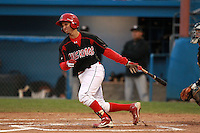Batavia Muckdogs Juan Castillo during game three of the NYPL Semifinals vs. the Tri-City Valleycats at Dwyer Stadium in Batavia, New York September 9, 2010.   Tri-City defeated Batavia 1-0.  Photo By Mike Janes/Four Seam Images