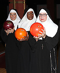 Christine Mild, Bambi Jones, Cindy Williams performing a preview of 'Nunset Boulevard: The Nunsense Hollywood Bowl Show' at the Bowlmor Lanes Thursday, Sept. 27, 2012 in Times Square, New York.