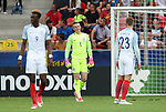 England's Jordan Pickford looks on dejected after Germany's second goal during the UEFA Under 21 Semi Final at the Stadion Miejski Tychy in Tychy. Picture date 27th June 2017. Picture credit should read: David Klein/Sportimage