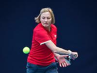 Hilversum, The Netherlands, March 09, 2016,  Tulip Tennis Center, NOVK,  Mixed Doubles 65+,  Anneke Jelsma-De Jong<br /> Photo: Tennisimages/Henk Koster