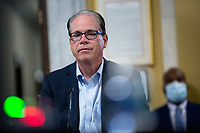 United States Senator Mike Braun (Republican of Indiana) listens during a United States Senate Aging Committee hearing at the United States Capitol in Washington D.C., U.S. on Thursday, May 21, 2020.  Credit: Stefani Reynolds / CNP /MediaPunch