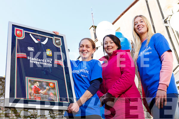 "Corinne Evans presents a signed jersey from Conor Murray's All Black tour to Therese Ahern and it will be raffled off with the proceeds going to ""The Make a Wish Foundation"". From l to r: Corinne Evans, Therese Ahern and Laura Sheehy."
