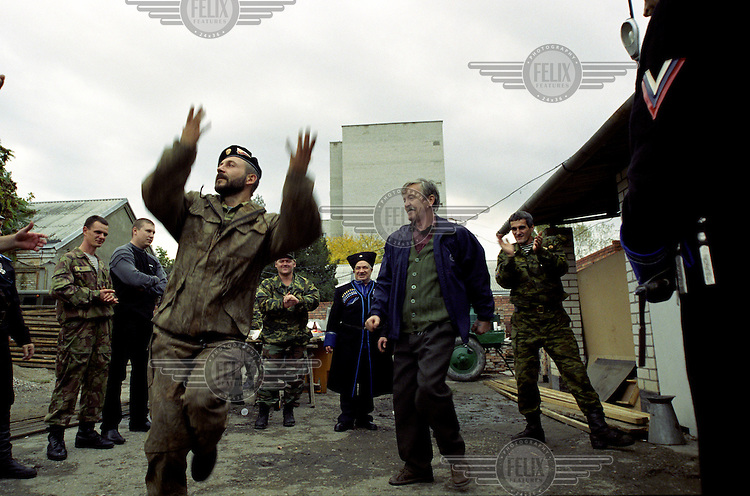 Celebrations at the Terek Cossack H.Q. during the annual holiday held in remembrance for the end of World War Two in Europe.