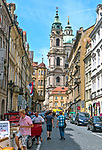 Praga, stolica Czech. 2013-07-23. Centrum miasta, Mała Strana.