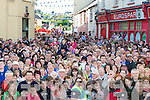 The crowd who gathered in Killorglin to watch Queen of Puck place the Crown on King Puck at the Coronation on Monday