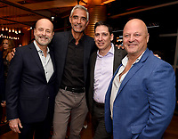 LOS ANGELES - SEPTEMBER 21: (L-R) John Landgraf, Chairman, FX Networks & FX Productions, Peter Liguori, Eric Schrier, President, FX Entertainment, and Michael Chiklis attend the FX Networks & Vanity Fair Pre-Emmy Party at Craft LA on September 21, 2019 in Los Angeles, California. (Photo by Frank Micelotta/FX/PictureGroup)