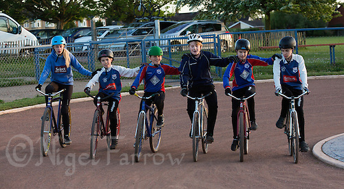 12 MAY 2015 - IPSWICH, GBR - Ipswich Eagles' riders practice a drill during a training session at Whitton Sports and Community Centre in Ipswich, Suffolk, Great Britain (PHOTO COPYRIGHT © 2015 NIGEL FARROW, ALL RIGHTS RESERVED)