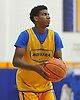 Hofstra University incoming freshman Justin Wright-Foreman gets ready to shoot a jumper during an informal men's basketball team workout at the team's practice facility on Wednesday, July 22, 2015.<br /> <br /> James Escher