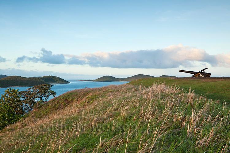 Gun battery at Green Hill Fort overlooking the Torress Strait Islands.  Thursday Island, Torres Strait Islands, Queensland, Australia