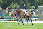 Ruth Edge riding Rogersdale during the Dressage phase of the 2012 Land Rover Burghley Horse Trials in Stamford, Lincolsnhire