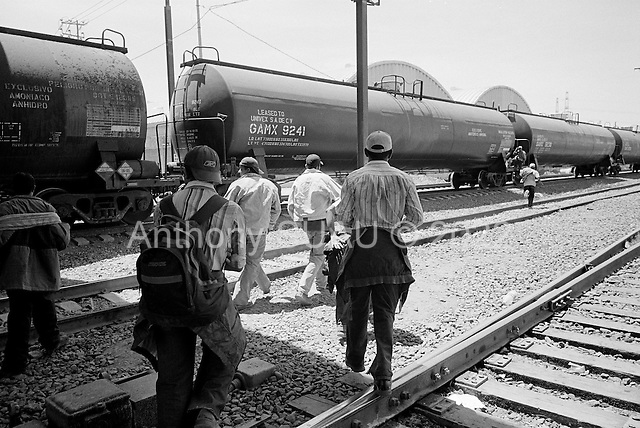 Ecatepec, Mexico<br /> June 4, 2007<br /> <br /> In the train station named Lecher&iacute;a, central and south Americans who had ventured north to Mexico City, mainly from Honduras, (but also from Guatemala and El Salvador),  jump the trains to take them north. Most of them had been traveling for one or two weeks. The train guards allowed them to travel and pointed out which train would take them to Monterrey where they could find a train to the USA border. Stories are abound of those killed while trying to jump the trains and police brutality.