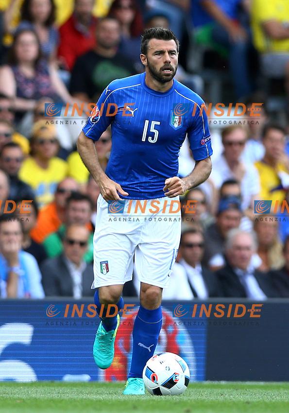 Andrea Barzagli Italy<br />Toulouse 17-06-2016 Stade Velodrome Footballl Euro2016 Italy - Sweden  / Italia - Svezia Group Stage Group E. Foto Matteo Ciambelli / Insidefoto