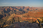 Yavapi Point Overlook at sunset along the South Rim of Grand Canyon National Park, Arizona .  John offers private photo tours in Grand Canyon National Park and throughout Arizona, Utah and Colorado. Year-round. . John offers private photo tours in Grand Canyon National Park and throughout Arizona, Utah and Colorado. Year-round.