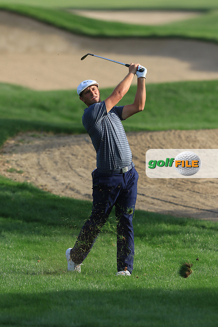 Bryson Dechambeau (USA) on the 16th during Round 4 of the Omega Dubai Desert Classic, Emirates Golf Club, Dubai,  United Arab Emirates. 27/01/2019<br /> Picture: Golffile | Thos Caffrey<br /> <br /> <br /> All photo usage must carry mandatory copyright credit (© Golffile | Thos Caffrey)