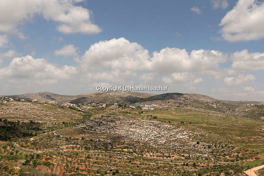 Samaria, looking north from Shilo settlement