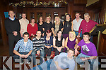 DINNER: Der Sullivan delicioan staff who held their Christmas dinner in the Grand Hotel, Tralee on Saturday evening. Front l-r: Gary Sugrue, Danny Roche, Noreen and Joanne Fitzpatrick, Charlotte O'Shea, Mike O'Leary and Fergus O'Connor. Back l-r: Brian and Dermot O'Sullivan, Eileen Maher, Nathlie Arefjeva, Justine Balka, Lisa Conway, Charleane Griffin, Tim Mangan and Ciara?n O Nualla?in. ...