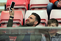 Angel Rangel of Swansea City takes a selfie prior to the Premier League match between Sunderland and Swansea City at the Stadium of Light, Sunderland, England, UK. Saturday 13 May 2017
