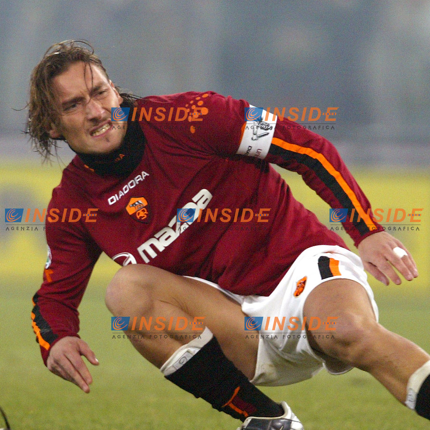 Roma 6/1/2004 Roma - Milan 1-2<br /> Francesco Totti (Roma) <br /> Photo Andrea Staccioli / Insidefoto