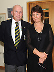 Captain John Garvey and Lady Captain Karen McCahey pictured at the captains dinner in Seapoint golf club. Photo: Colin Bell/pressphotos.ie