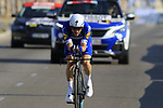 Dries Devenyns (BEL) Quick-Step Floors during Stage 1 of the La Vuelta 2018, an individual time trial of 8km running around Malaga city centre, Spain. 25th August 2018.<br /> Picture: Eoin Clarke | Cyclefile<br /> <br /> <br /> All photos usage must carry mandatory copyright credit (© Cyclefile | Eoin Clarke)