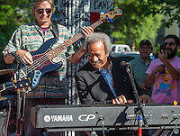 Walter Wolfman Washington and Allen Toussaint at Fortier Festival in New Orleans, LA.