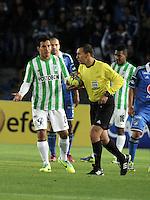 BOGOTA- COLOMBIA -09 -02-2014: Wilson Lamoroux, arbitro durante  partido de la cuarta fecha de la Liga Postobon I 2014, jugado en el Nemesio Camacho El Campin de la ciudad de Bogota. / Wilson Lamoroux, referee during a match for the fourth date of the Liga Postobon I 2014 at the Nemesio Camacho El Campin Stadium in Bogoto city. Photo: VizzorImage  / Luis Ramirez / Staff