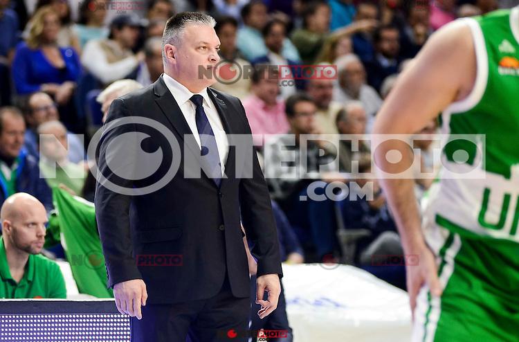 Unics Kazan's coach Evgeny Pashutin during match of Turkish Airlines Euroleague at Barclaycard Center in Madrid. November 24, Spain. 2016. (ALTERPHOTOS/BorjaB.Hojas) //NORTEPHOTO