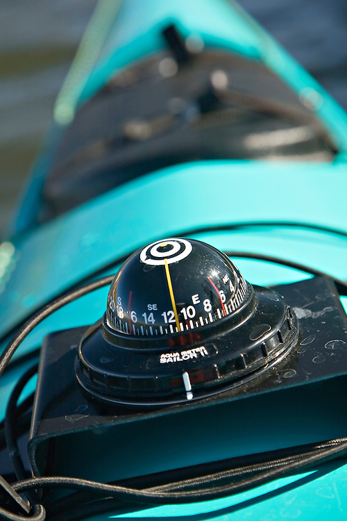 Compass on kayak