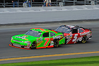 Danica Patrick (#7) and Dale Earnhardt, Jr. (#5)