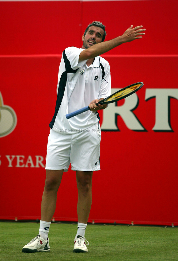 Photograph: Scott Heavey..Day 2 of the Stella Artois Championship at the Queens Club. 10/06/2003..Jan Sanguinetti