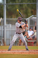 Central Michigan Chippewas pinch hitter Jarrod Watkins (25) at bat during a game against the Boston College Eagles on March 8, 2016 at North Charlotte Regional Park in Port Charlotte, Florida.  Boston College defeated Central Michigan 9-3.  (Mike Janes/Four Seam Images)