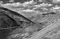Hell's Canyon Reservoir with clouds. Hell's Canyon National Recreation Area. Oregon/Idaho