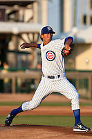 Pitcher Aaron Kurcz #34 of the Daytona Beach Cubs in action against the Brevard County Manatees at Jackie Robinson Ballpark on April 9, 2011 in Daytona Beach, Florida. Photo by Scott Jontes / Four Seam Images