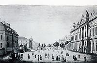Berlin: Platz AM Zeughaus  (arsenal), Unter Den Linden, view from east, 1780.  SCHINKEL'S BERLIN. Reference only.